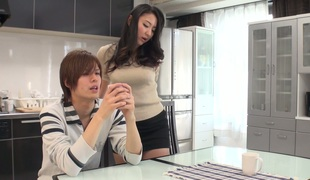 Saucy Jap hotty Yuri Honma screwed bad in a missionary position
