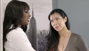 Breath-taking ebony sweetheart Ana Foxxx drilled brutally in the office