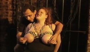 Huge breasted redhead plumper explores her lust for ache and pleasure