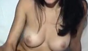Brunette Deea masturbating on webcam