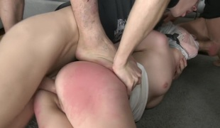 Triple Penetration! Double Anal! Russian Hotty with Gaping Butthole!!