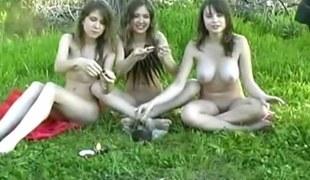 tenåring utendørs russisk