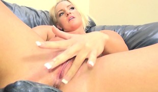 Foxy blonde Cali Carter gets her freak on with excellent cock action