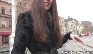 Hawt Russian Milf picked up in public
