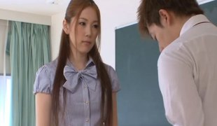 Asami Ogawa is the hottest teacher who merits to be banged hard