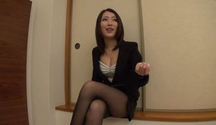 Secretary pulls her panties aside and gets banged by her boss