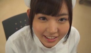 Desirable nurse from the Far East gives her partner a good treatment