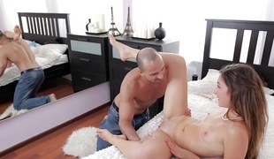Loving young pair fuck anally