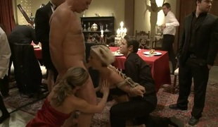 Hot siren acquires a wanton and excruciating group castigation