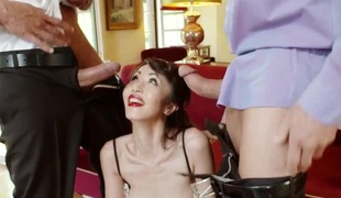 Japanese dame nicely ravished hardcore previous to swallowing cum