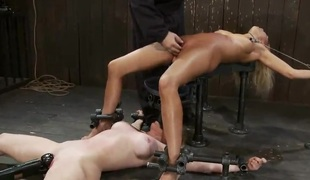 Blondes having freaky constrained Punishment in Moronic pang mov