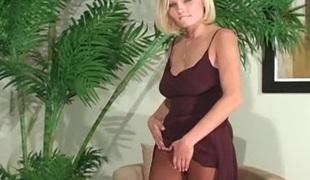 strømper onani solo fetish strømpebukse