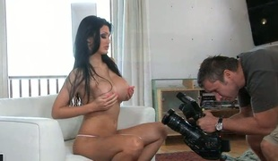 Aletta Ocean gives pleasure to herself with vibrator
