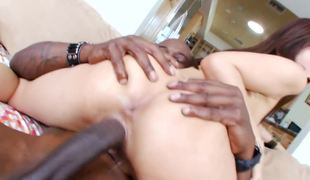 Dick riding Oriental begs to have his black shaft deeper inside her