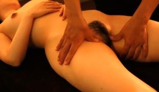 tynn store pupper massasje ass asiatisk