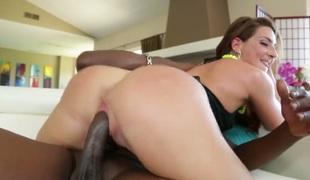 Savannah Fox is in need of some sex. So that babe calls her coach over to give her a nice time. That babe is getting his big dick inside her tight ass.