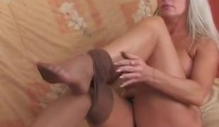 lesbisk strømpebukse