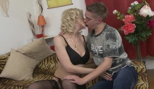 Hot housewife fucking and sucking the guy next door