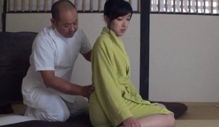 Aged dude massages and fucks this sexy Japanese hotty