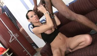 Ladyman with natural tits having her anal ravished hardcore
