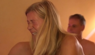 German Non-Professional ,Aged Orgy in Swingers Club - Scene 1