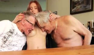 Cuckold licks creampie Minnie Hentai eats breakfast with John