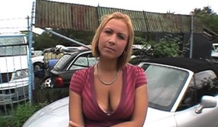 Horny blond Czech chick, Mika Vero, gets down for some...