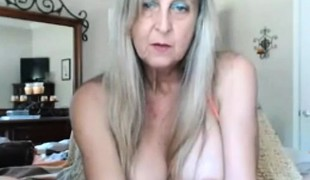Golden-haired Hot Granny Livecam Toying