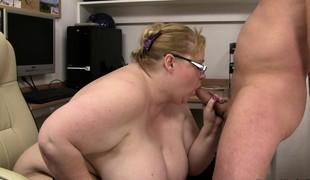 european blonde store pupper blowjob bbw