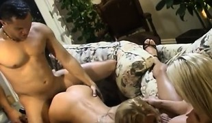 blonde slikking milf store pupper blowjob
