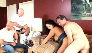 Hubby invites a friend over to see his wife get nailed by another dude