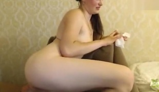 Missslady fingering his anus