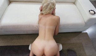 Naomi Woods POV overhead doggystyle