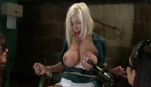 Couple Are Torturing A Sassy And Bigtitted Blondie