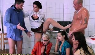 Fetish sluts facialized with cum