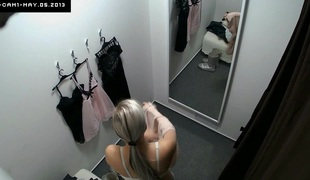 Here's spying the changing rooms! We've two security cameras hidden nearby cabins of an underclothing shop. Beautiful Czech beauties fitting on bras, pants and sexy underware relish in even the slightest idea they are being watched. Now u can finally wa